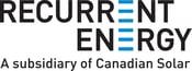 Recurrent Energy logo Black and Blue